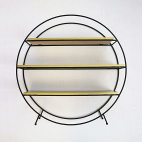 Black Wire and Gold Standing Display Shelf