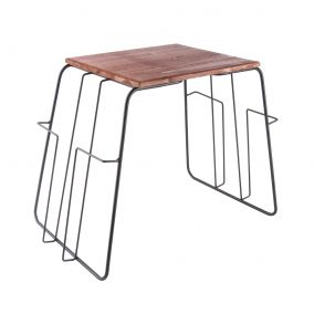 Black Wire Magazine Rack Side Table