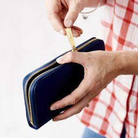 Personalised Women's Zip Around Purse