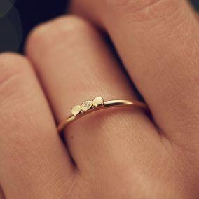 Bow Diamond Ring
