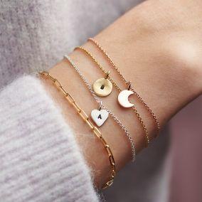 Personalised Initial Sun Charm Bracelet
