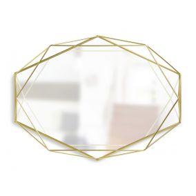 Brass Prism Wall Mirror