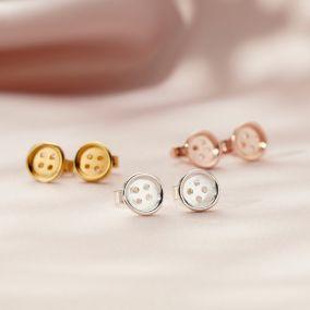 Button Stud Earrings