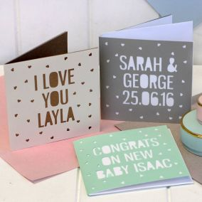 Personalised Papercut Cards