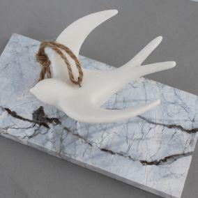 White Ceramic Flying Bird