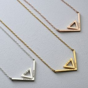 Deco Chevron Necklace