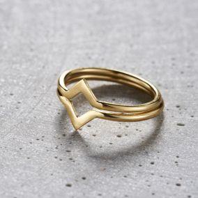 Chevron Ring Set