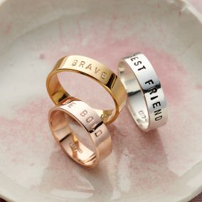 Personalised Chunky Ring