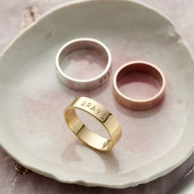 Personalised Chunky Script Ring