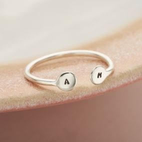 Personalised Disc Open Ring