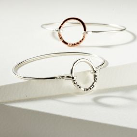 Personalised Open Circle Bangle