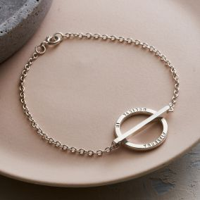 Personalised Circle Bar Bracelet