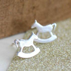 Silver Rockinghorse Charity Stud Earrings
