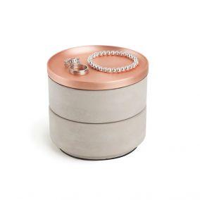 Concrete and Copper Jewellery Box
