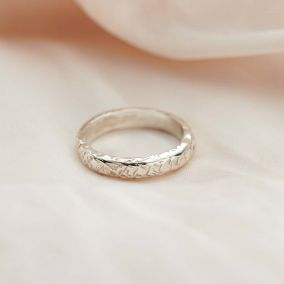 Personalised Textured Ring