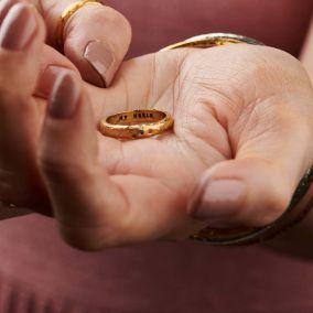 9ct Gold Birthstone Confetti Ring