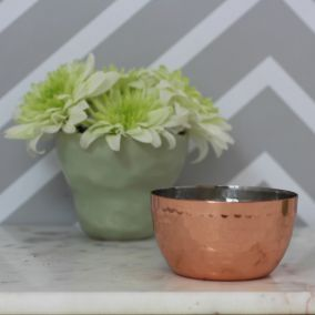 Copper Hammered Trinket Dish