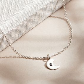 Personalised Initial Moon Charm Bracelet