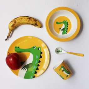 Crocodile Melamine Tableware Set
