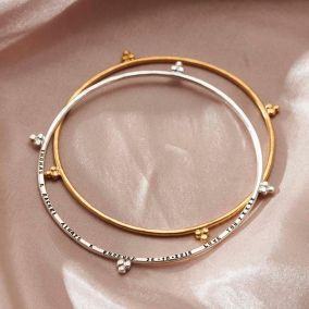 Personalised Crown Bangle