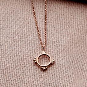 Personalised Small Crown Hoop Necklace