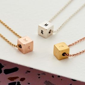 Personalised Cube Necklace