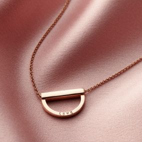 Personalised Curve Bar Stack Necklace