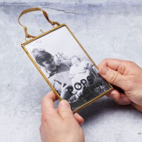 Personalised Father's Day Brass Photo Frame