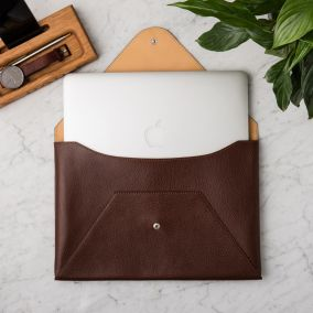 Personalised Leather Laptop Case