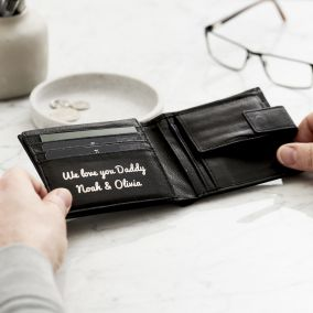 Personalised Message Leather Popper Wallet