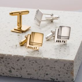 Personalised Double Cube Cufflinks