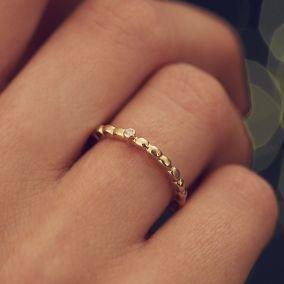 Personalised Diamond Beaded Ring