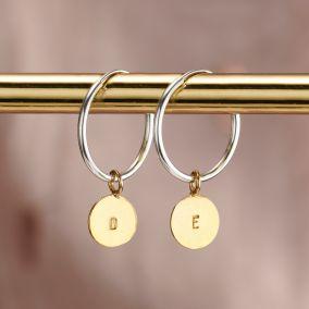 Personalised Disc hoop Earrings
