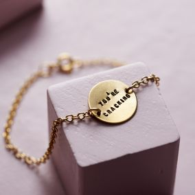 Personalised Message Disc Bracelet