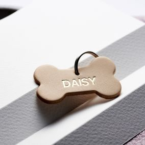 Personalised Leather Name Dog Tag