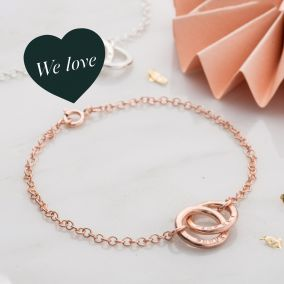 Personalised Double Hoop Names Bracelet