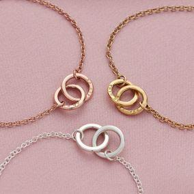 Personalised Double Hoop Names Bracelet