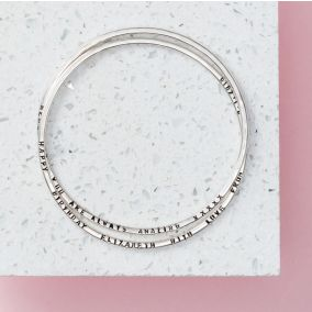 Personalised Interlinking Bangles