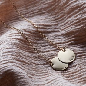 Personalised Double Disc Necklace
