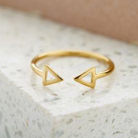 Fine Triangle Open Ring