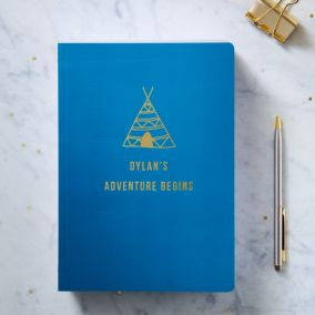 Personalised Gold Foil A5 Adventure Notebook