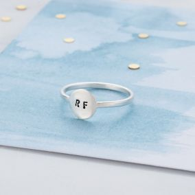 Personalised Disc Eclipse Ring