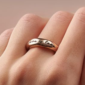 Personalised Engraved Horn Open Ring