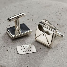 Personalised Message Envelope Cufflinks