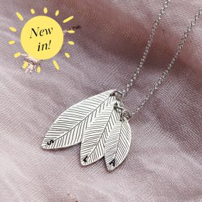 Personalised Family Leaf Necklace
