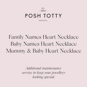 Jewellery Maintenance Family Names Heart Necklace