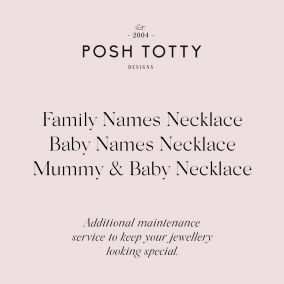 Jewellery Maintenance Family Names Necklace