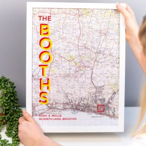 Personalised Family Name Map Print