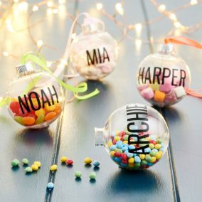 Personalised Fill Me Up Bauble