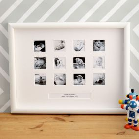 Personalised First Year Large Photo Frame